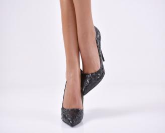 Дамски елегантни обувки еко кожа черни EEYR-22997