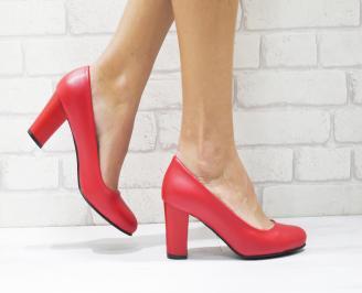 Дамски елегантни обувки еко кожа червени CBIL-23000