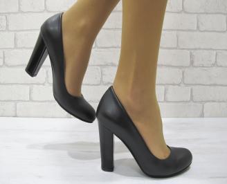 Дамски елегантни обувки еко кожа черни NUJG-23008