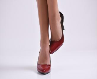 Дамски елегантни обувки еко кожа/лак червени GYMH-23021