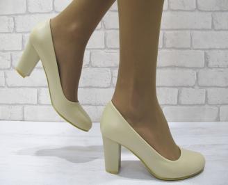 Дамски елегантни обувки еко кожа бежови TXIF-23022