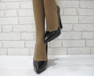 Дамски елегантни обувки еко кожа/лак черни TACO-23032