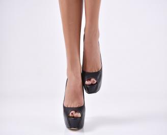 Дамски елегантни обувки еко кожа черни VTKH-23094