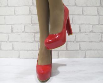 Дамски елегантни обувки еко кожа/ лак червени OWXW-23106