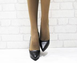 Дамски елегантни обувки еко кожа черни UOXX-23108