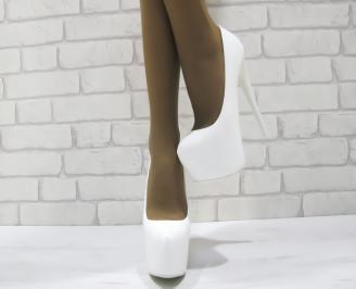 Дамски елегантни обувки  бели еко кожа XXEF-23307