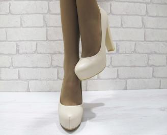 Дамски елегантни обувки  бежови  еко кожа MPPE-23338