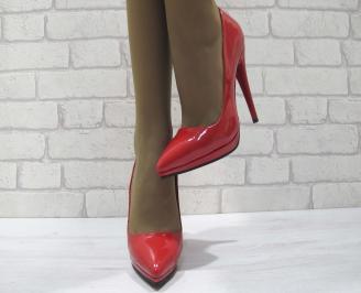 Дамски елегантни обувки еко кожа/лак червени XKJG-23348