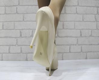 Дамски елегантни обувки еко кожа/лак бежови BDXT-23353
