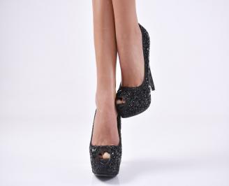 Дамски елегантни обувки еко кожа черни NZNY-23534