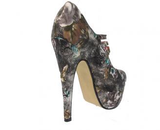 Дамски елегантни обувки текстил на цветя CMVG-11462