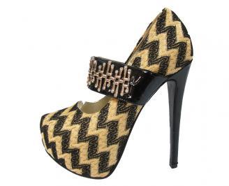 Дамски елегантни обувки текстил златни YKLY-11475