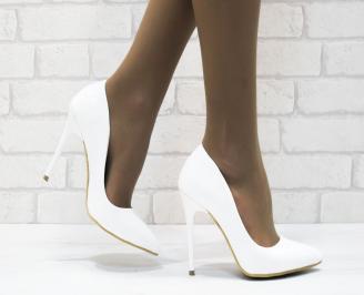 Дамски елегантни обувки еко кожа/лак бели BVRD-25304
