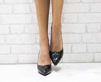 Дамски елегантни обувки еко кожа/лак черни CZHF-25306