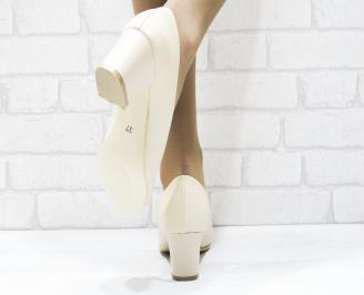 Дамски елегантни обувки еко кожа бежови WAIH-25372
