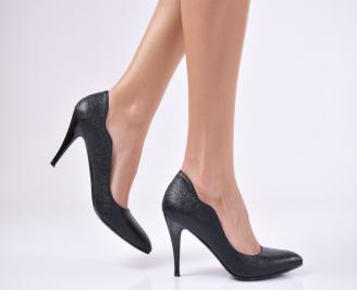 Дамски елегантни обувки еко кожа черни YCMR-25701