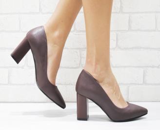 Дамски елегантни обувки еко кожа бордо VTZI-25703