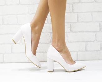 Дамски елегантни обувки еко лак пудра QKZG-25722