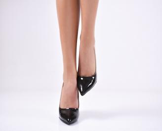 Дамски елегантни обувки еко кожа/брокат бежови ENCP-25729