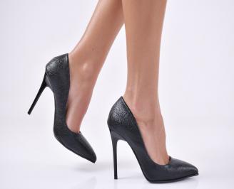 Дамски елегантни обувки еко кожа черни SHAR-25733