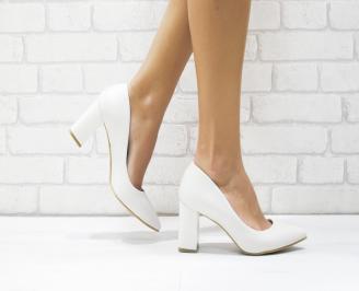 Дамски елегантни обувки еко кожа светло бежови KXEH-25741