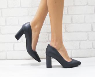 Дамски елегантни обувки еко кожа сини UGPG-25749
