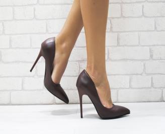 Дамски елегантни обувки еко кожа бордо FQSG-25754