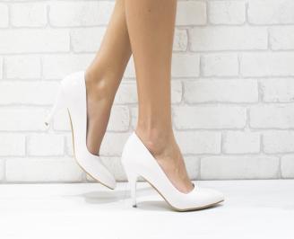 Дамски елегантни обувки еко лак светла пудра OWWN-25758