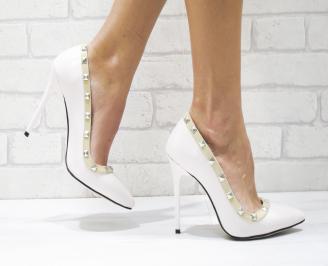 Дамски елегантни обувки еко кожа светло бежови JSYS-26118
