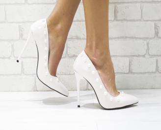 Дамски елегантни обувки еко кожа/лак пудра PCNF-26120