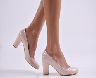 Дамски елегантни обувки еко кожа/лак розови LWDC-26121
