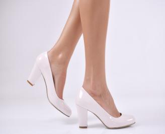 Дамски елегантни обувки еко кожа/лак пудра GPYC-26123