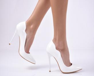 Дамски елегантни обувки еко кожа/лак бели FUMS-26126