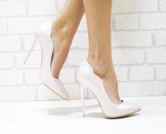 Дамски елегантни обувки еко кожа/брокат розови CFBP-26128