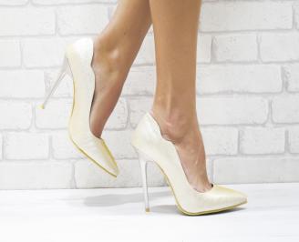 Дамски елегантни обувки еко кожа/брокат златисти DIRQ-26130