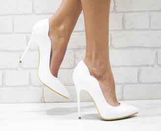 Дамски елегантни обувки еко кожа бели UHAD-26133