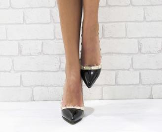 Дамски елегантни обувки еко кожа/лак черни KJCT-26137