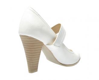 Дамски елегантни обувки еко кожа бели SXFY-11632