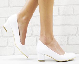 Дамски елегантни обувки еко кожа/лак бели KAPC-26525