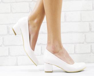 Дамски елегантни обувки еко кожа/лак пудра ANLL-26529