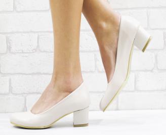 Дамски елегантни обувки еко кожа бежови MHCD-26530