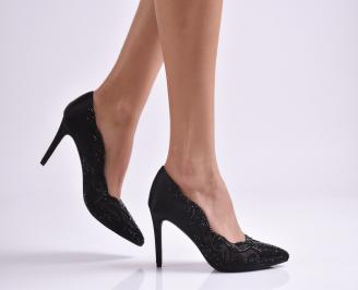 Дамски елегантни обувки еко кожа черни XBXS-26600