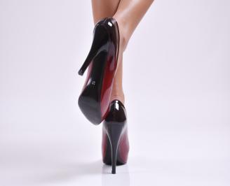 Дамски елегантни обувки еко лак червени EVQM-26885