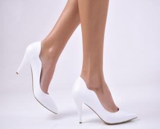 Дамски елегантни обувки еко кожа бели SEDL-26994