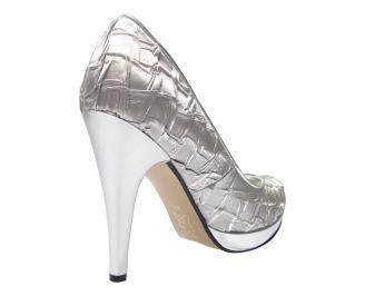 Дамски елегантни обувки текстил сиви ENIN-11706