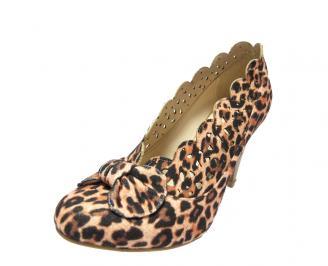 Дамски елегантни  обувки еко велур шарени ZVBC-11724