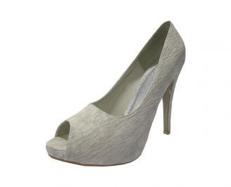 Дамски елегантни обувки еко кожа сиви LOXT-11771