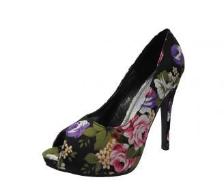 Дамски елегантни обувки текстил на цветя CRXO-11773