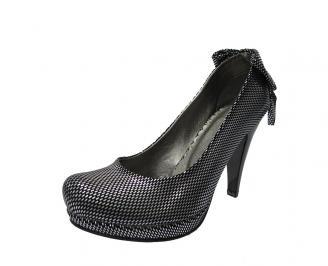 Дамски елегантни обувки сатен черни DQBC-11785