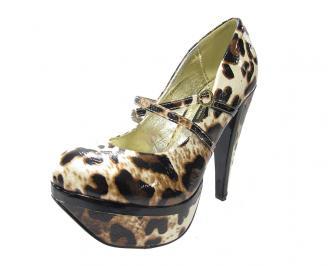 Дамски елегантни обувки еко кожа шарени AGSA-11869